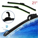 "New Universal 21"" Car U-type Frameless Bracketless Rubber Windshield Wiper Blade"