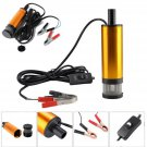 12V 38mm Submersible Pumps Water Oil Fuel Diesel Transfer Refueling Detachable