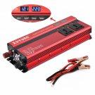 2000W Car Power Inverter Converter DC 12V/24V To AC 220V 4 USB LED Digital