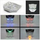 Strobe Warning Light Badge Transformers Autobots Solar Powered LED Flash Emblem
