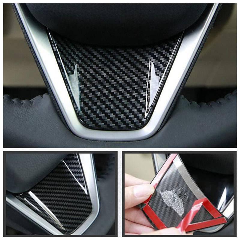 Car Carbon Fiber Steering Wheel Frame Sticker Cover Trim For Toyota Camry 2018