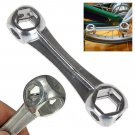10 in 1 Mini Bicycle Repair Tool Dog Bone Shape Wrench Hexagon Holes Spanner