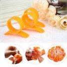 Practical Opener Lemon Orange Peeler Slicer Cutter Plastic Kitchen Tool 10PCs