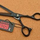 "6.0&"" Japan Kasho 440C Black Color Hairdressing Scissors Cutting Shears Thinning"