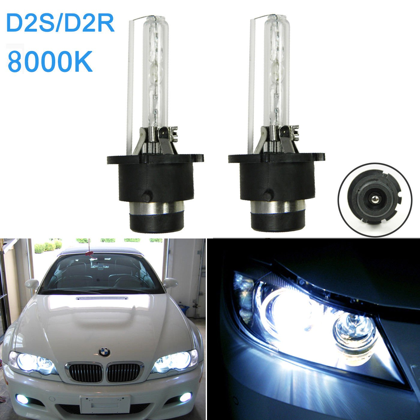 2x Blue D2S D2R HID Xenon Headlight Bulbs For Acura TL TSX