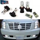 6Pcs White LED Fog Driving DRL Light Bulbs Combo For 2007-2014 Cadillac Escalade