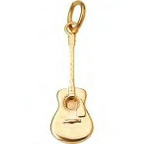 Jeffrey David 14k Gold Acoustic Guitar Charm or Pendant