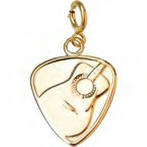 Jeffrey David 14k Gold Guitar Pick Pendant