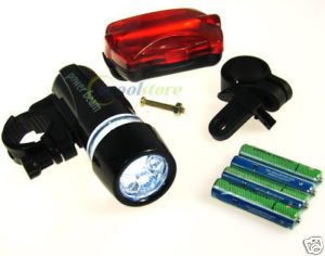 5 LED Warning Headlight Bike Bicycle Accessory Torch