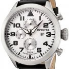 Invicta Men's Invicta II White Dial Black Calf Leather
