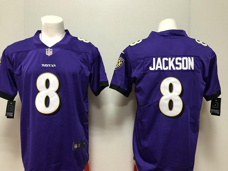 buy popular 401a0 27fe3 Jackson Limited Purple Player Ravens Jersey Baltimore Men's ...