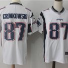 Rob Gronkowski  #87 Men's New England Patriots Limited Player Jersey White,Football Jersey Sale