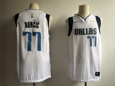 buy popular a8500 a2ca2 Luka Doncic #77 Men's Dallas Mavericks White Swingman Jersey ...