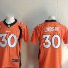Phillip Lindsay 30th Men's Denver Broncos Orange Limited Player Jersey