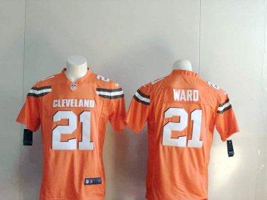 new style d5eda 9005a Denzel Ward #21 Cleveland Browns Men's Limited Game Jersey ...