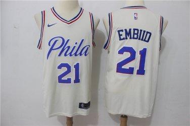 finest selection b1900 4a891 Joel Embiid Men's Philadelphia 76ers #21 Replica jersey ...