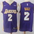 BALL #2 Los Angeles Lakers Men's Royal Swingman Jersey Icon