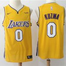 Los Angeles Lakers Kyle Kuzma #0 Men's Yellow Replica Jersey Stitched