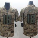 Men's Falcons Calvin Ridley #18 Camo Salute to Service Player Limited Jersey