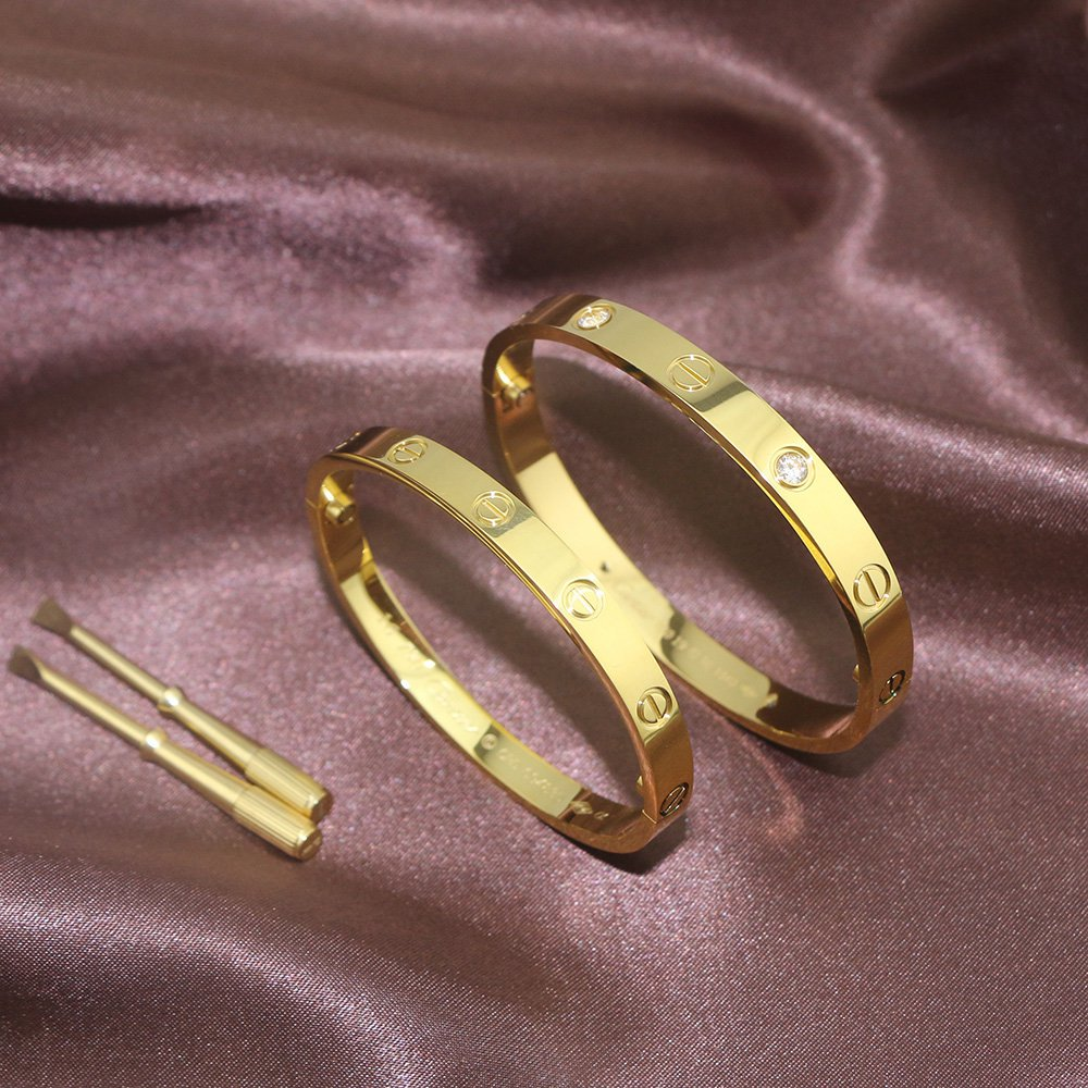 Cartier Love Bracelet Yellow Gold Double Set