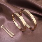 Cartier Love Bracelet 18k Pink Gold Size 20 (Double Set)