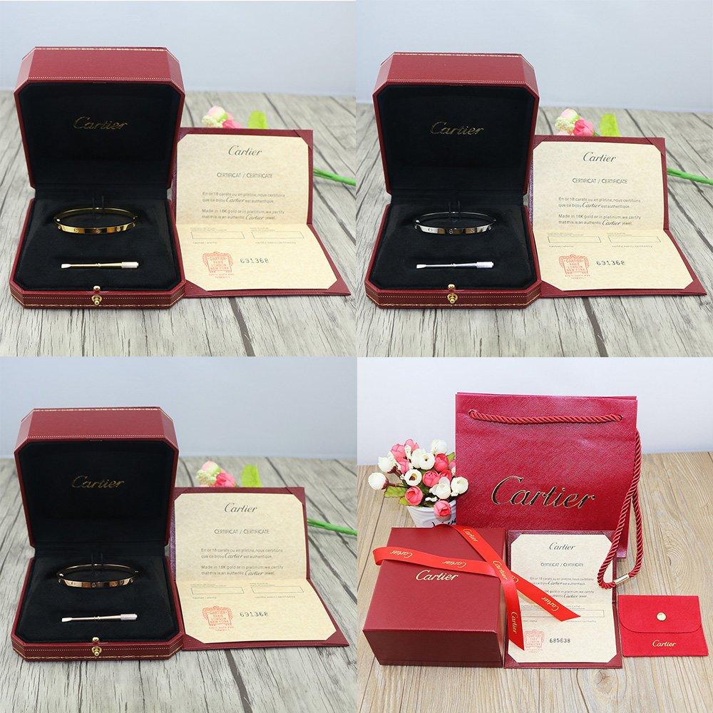 Cartier Love Bracelet Thin Version With Original Box Set