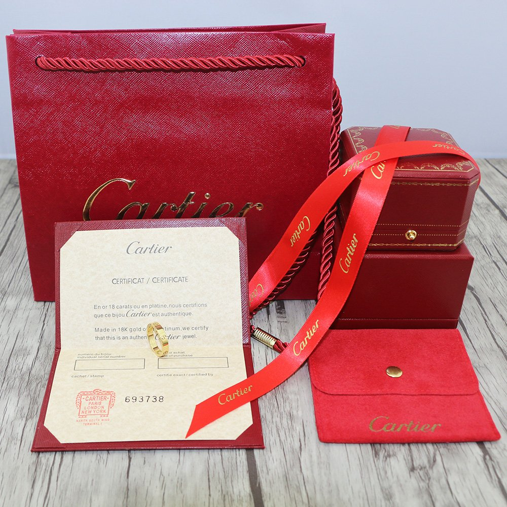 Cartier Love Ring Thin Version With Original Box Set