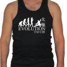 Tai chi evolution martial arts MMA black 100% cotton muscle/gym graphic tank top