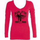 Krav maga emblem pink martial arts sleeved new t-shirt for women or teens