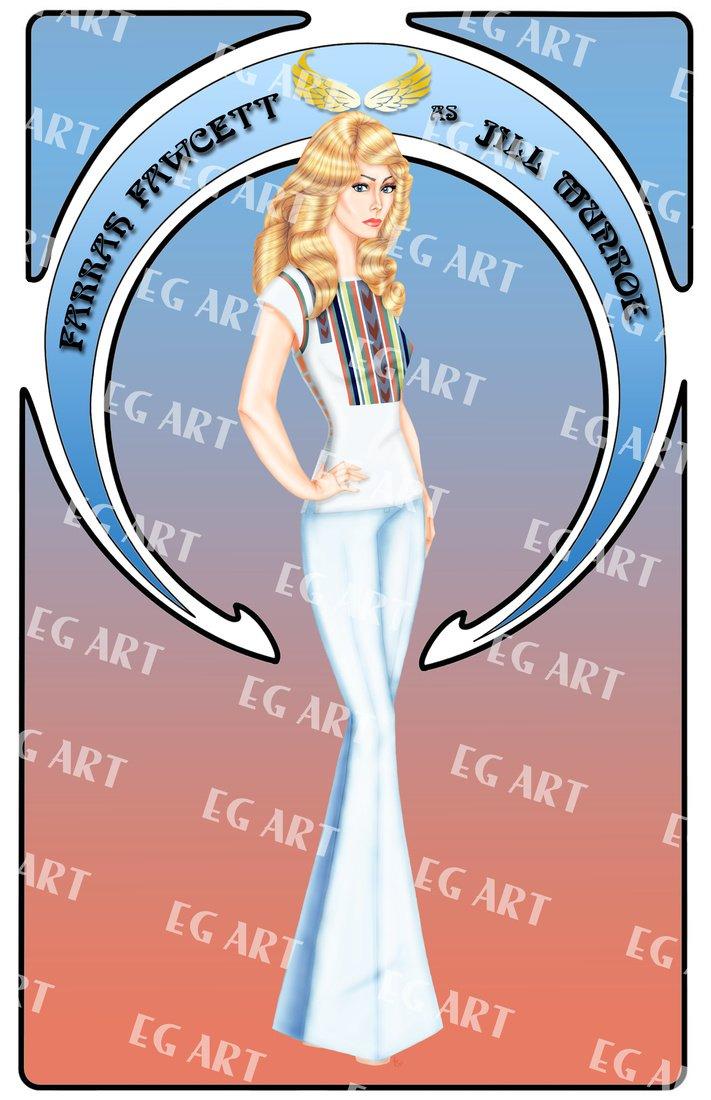 Charlie's Angels Farrah Fawcett 11x14 Poster Artwork