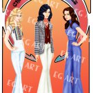 Charlie's Angels 8x12 Poster Artwork