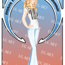 Charlie's Angels Farrah Fawcett 8x10 Poster Artwork