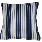 Faulty ZIP Blue STRIPE Cushion Covers Cotton 40cm Machine Washable Craft Fabric