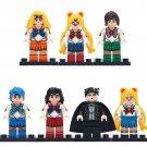 7pcs Sailor Moon Usagi lego minifigure toys