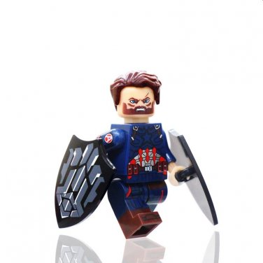 New Captain America With Shield Infinity War Minifigure Toys Lego