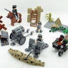 4 in 1  German Army with Motorcycle ww2 war army military lego toys minifigure