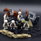 6pcs white German soldiers ww2 war army military lego toys minifigure