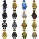 16pcs Special Forces soldiers ww2 war army military lego toys minifigure