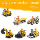 City Construction Team with 6 cars lego toys minifigure