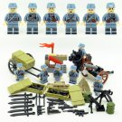 6pcs Chinese soldiers with weapon ww2 war army military lego toys minifigure