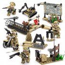 4 in 1 Marine Corps ww2 war army military lego toys minifigure type2