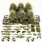 6pcs Camouflage soldier Ghillie Suit ww2 war army lego toys minifigure