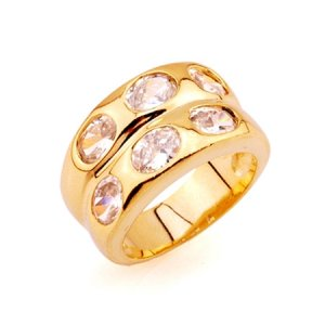 ZIRCON SOLID 24K GILD GORGEOUS RING UNIQUE VERY GOOD QUALITY 100% SURETY SATISFACTION AAAAA