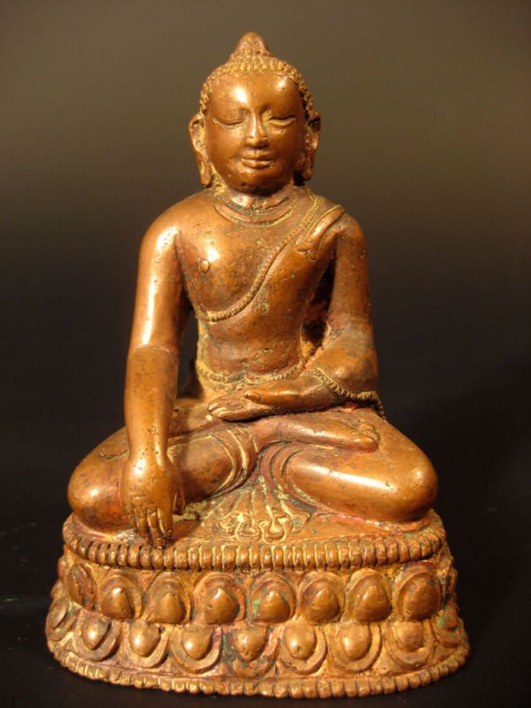 Tibet Tibetan Seated Copper Akshobya Buddha ca. 19th c.