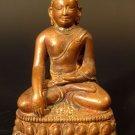 Tibet Tibetan Seated Copper Akshobya Buddha ca. 19th c.
