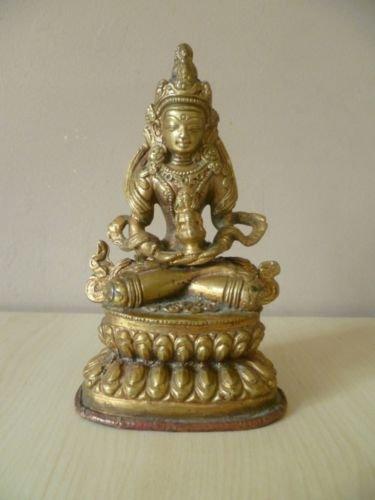Antique 19thC Bronze Tibetan Godess Figure