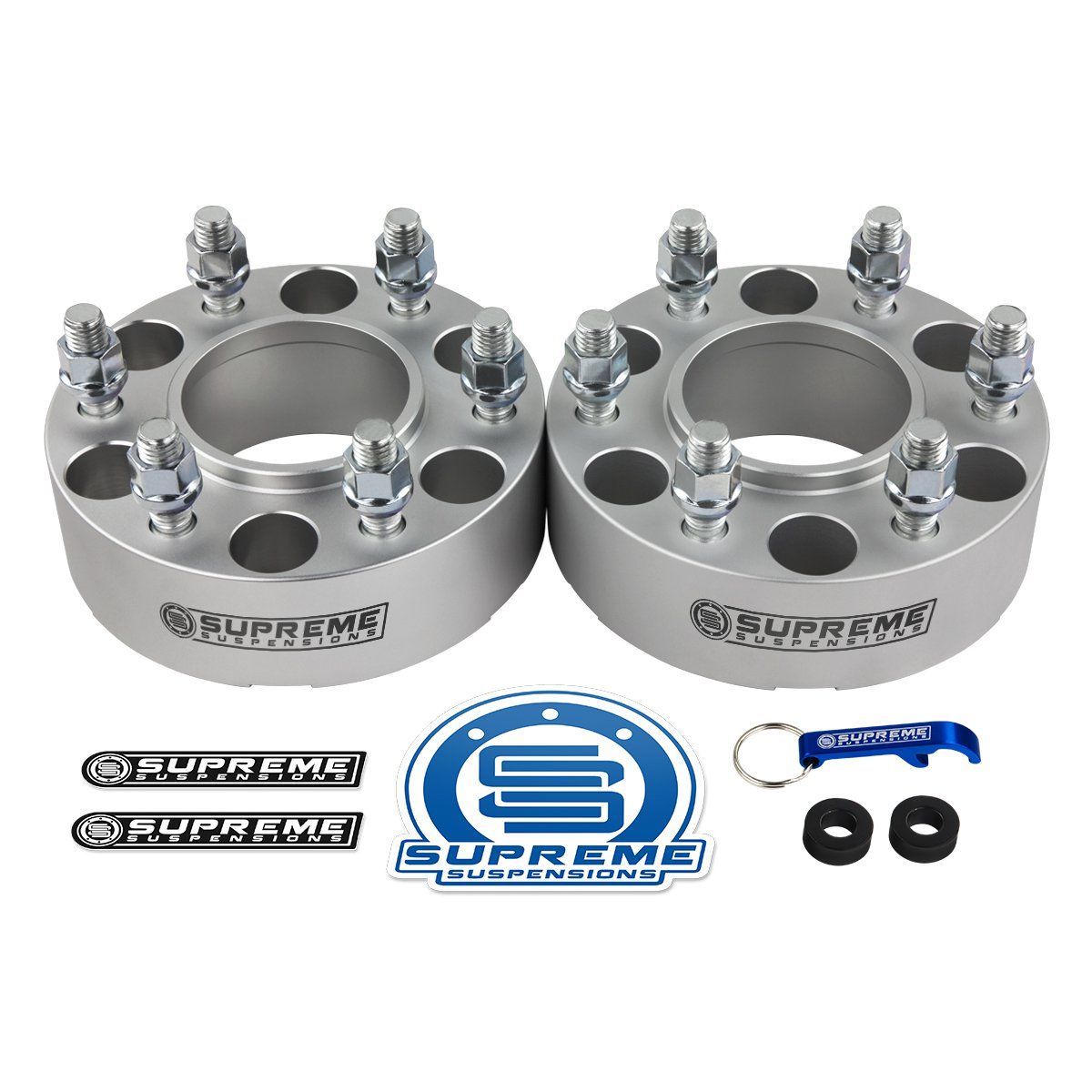 """New Silver 1.5"""" Wheel Spacers For 15-21 Ford F-150 Expedition Lincoln Navigator"""