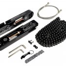 04-05 Suzuki GSXR 600 750 Swingarm Frame Extensions + SS Brake Line + Chain Kit