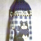 Crochet Top Love my Cat Kitchen Towel by The Village Craftsmith
