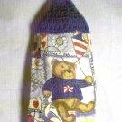 Crochet Top Patriotic Summer Bear Kitchen Towel by The Village Craftsmith